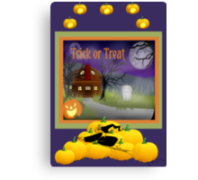 Halloween Scene Poster Canvas Print