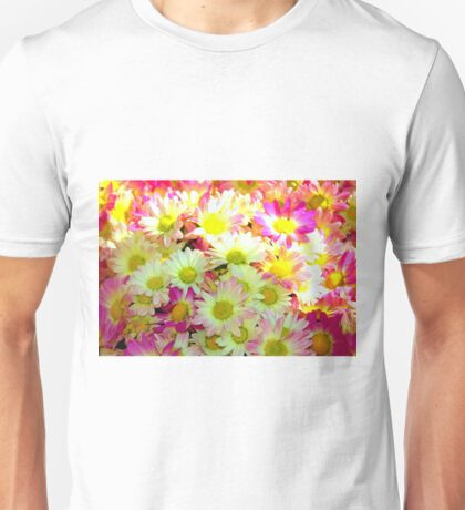 yellow/pink flowers Unisex T-Shirt