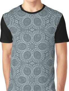 Silver Roses Pattern Graphic T-Shirt