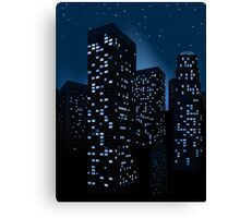 Night Cityscape Background 2 Canvas Print