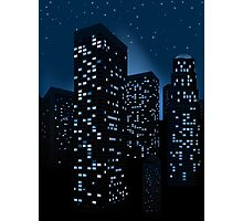 Night Cityscape Background 2 Photographic Print
