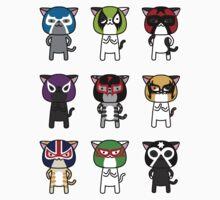 Cats Luchalibre9 Kids Tee