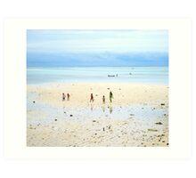 Beachcombers, Mabul Island, Phillipines Art Print