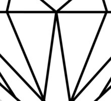 Diamond (black) Sticker