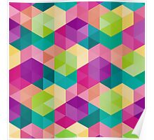 Colourful Geometric Pattern Poster