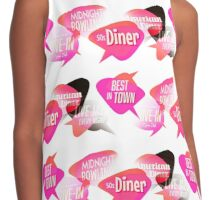 Retro Diner Signs Neon Pink Contrast Tank