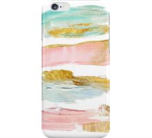 Gilded strokes - pink and blue iPhone Case/Skin
