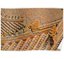 Chinese Temple Roof Abstract Poster