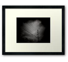 Power Lined Framed Print