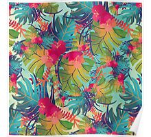 Colourful Floral Pattern Poster