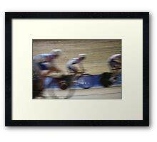 Bicycle Race Velodrome Framed Print