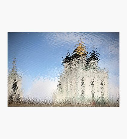 looming Russian church  Photographic Print