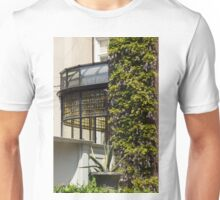 Gardening Delights - Wisteria Aloe Vera And A Stained Glass Canopy - Left Unisex T-Shirt