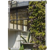 Gardening Delights - Wisteria Aloe Vera And A Stained Glass Canopy - Left iPad Case/Skin