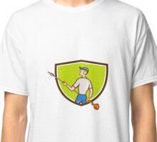 Gardener Hedge Trimmer Crest Cartoon Classic T-Shirt