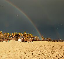 Double rainbow, Beach, photography, California, Seascape by SammyPhoto