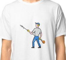 Gardener Hedge Trimmer Isolated Cartoon Classic T-Shirt