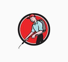 Pest Control Exterminator Spraying Circle Cartoon Classic T-Shirt
