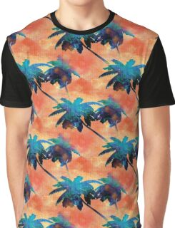 Coconut Palm Trees Tropical Sunset Graphic T-Shirt