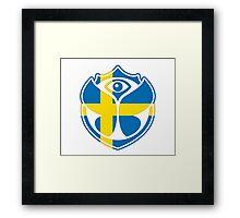 Tomorrowland Sweden logo - Swedish - Sverige - svenska Framed Print