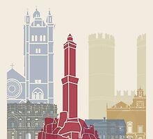 Genoa skyline poster by paulrommer