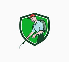 Pest Control Exterminator Spraying Crest Cartoon Classic T-Shirt