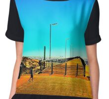 Semaphore Jetty South Australia Chiffon Top