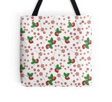 Strawberry lollipops, candy and chewing gum seamless pattern background texture Tote Bag