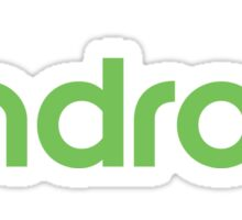 Android new logo Sticker