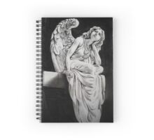 Daydreaming angel Spiral Notebook