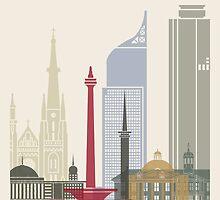 Jakarta skyline poster by paulrommer