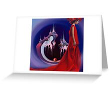 Red Pearl Castle Greeting Card