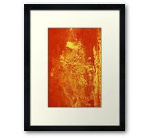 Orange Ripple Framed Print