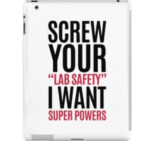 I Want Super Powers Funny Quote iPad Case/Skin