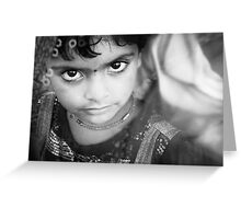 child of india Greeting Card
