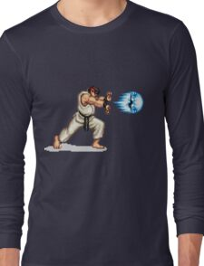 Hadouken! 8-bit Ryu. Long Sleeve T-Shirt