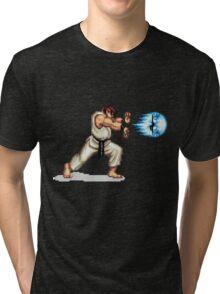 Hadouken! 8-bit Ryu. Tri-blend T-Shirt