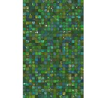 Green Emerald Shiny Glass Tiles Texture Background Photographic Print