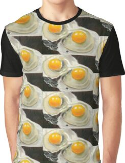 Raw Eggs, Oil Pastel Still Life, Realism, Egg Yolks Graphic T-Shirt