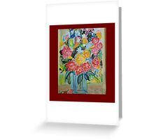 summer colour - joy of flowers Greeting Card