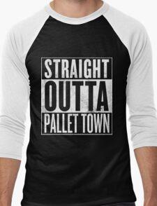Straight Outta Pallet Town Men's Baseball ¾ T-Shirt