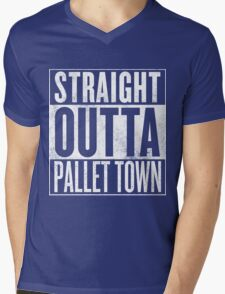 Straight Outta Pallet Town Mens V-Neck T-Shirt