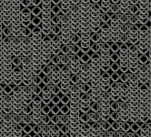 Tattered Silver Medieval Chainmail Armour Texture Background Sticker