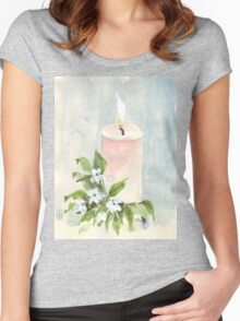 Light a candle Women's Fitted Scoop T-Shirt