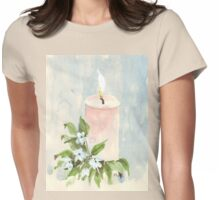 Light a candle Womens Fitted T-Shirt