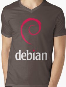 Debian Linux Tees Mens V-Neck T-Shirt