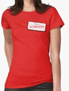 Alec's name tag Womens Fitted T-Shirt