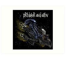 Predator and Alien Art Print