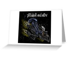 Predator and Alien Greeting Card