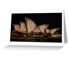 Fan Sails - Sydney Vivid Festival Greeting Card